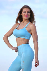 TURQUOISE SEAMLESS - Sport Bra - Statera Apparel