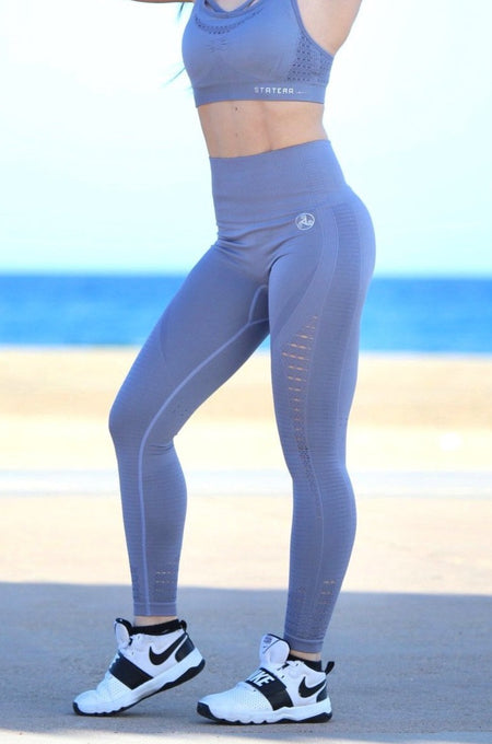 Gray Seamless - LEGGINGS - Statera Apparel