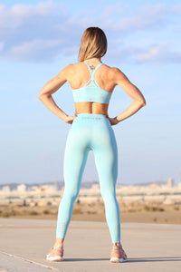 Light Blue Seamless - LEGGINGS - Statera Apparel