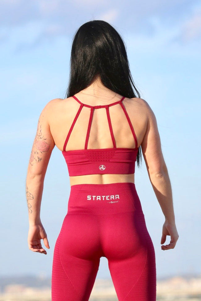 Red Seamless - SPORT BRA - Statera Apparel