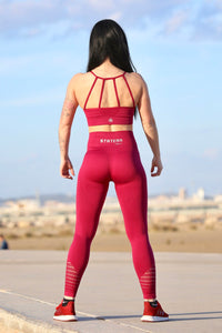 RED SEAMLESS HIGH WAISTED - Leggings