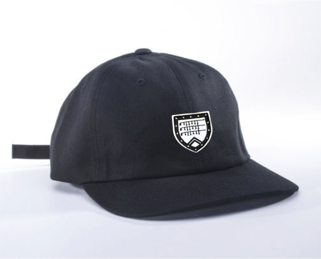 Dad Hat in black with Shapland crest