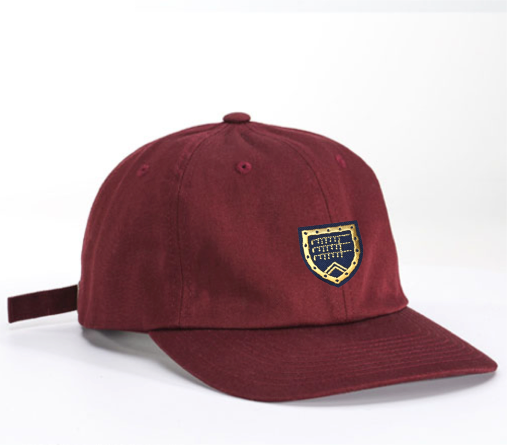 Dad Hat in maroon with Shapland crest