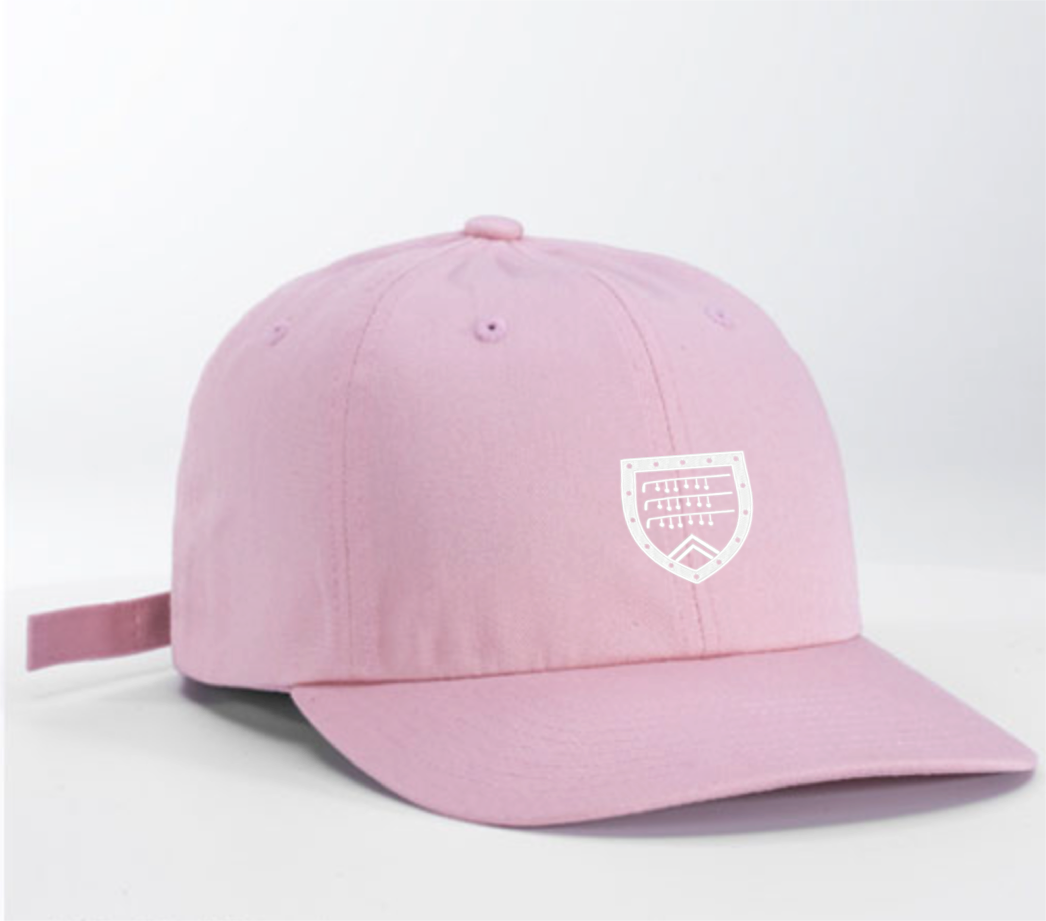 Dad Hat in pink with Shapland crest