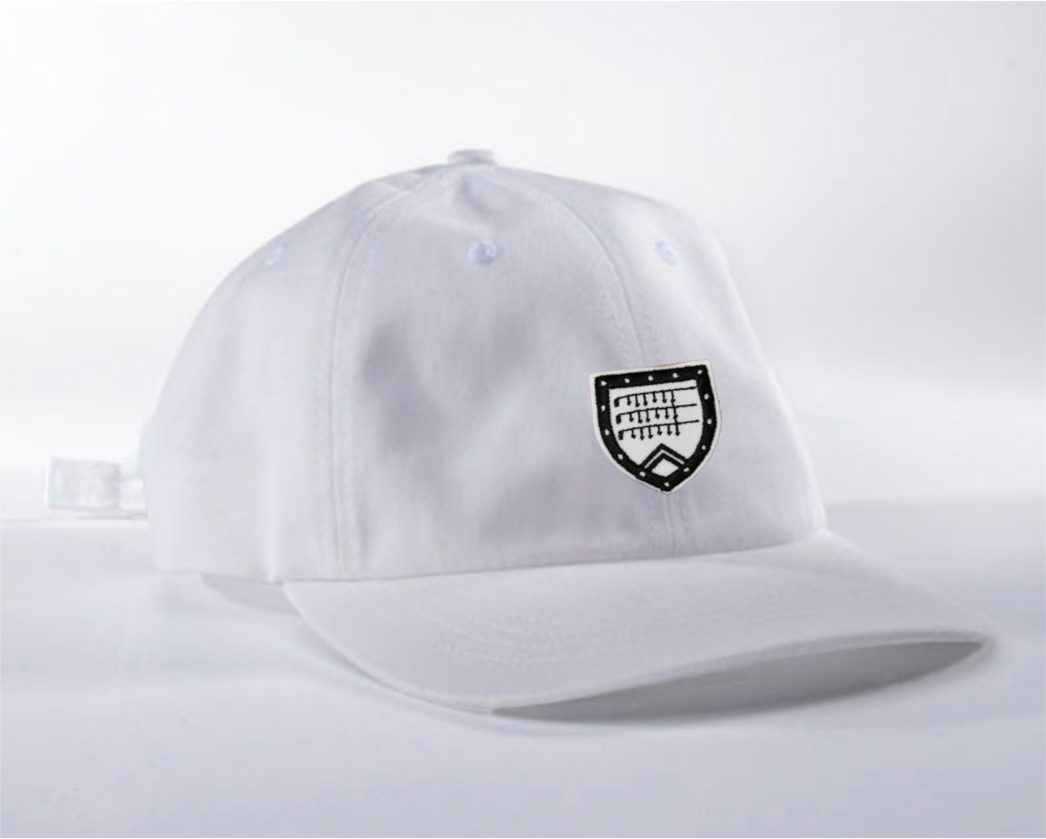 Dad Hat in white with Shapland crest