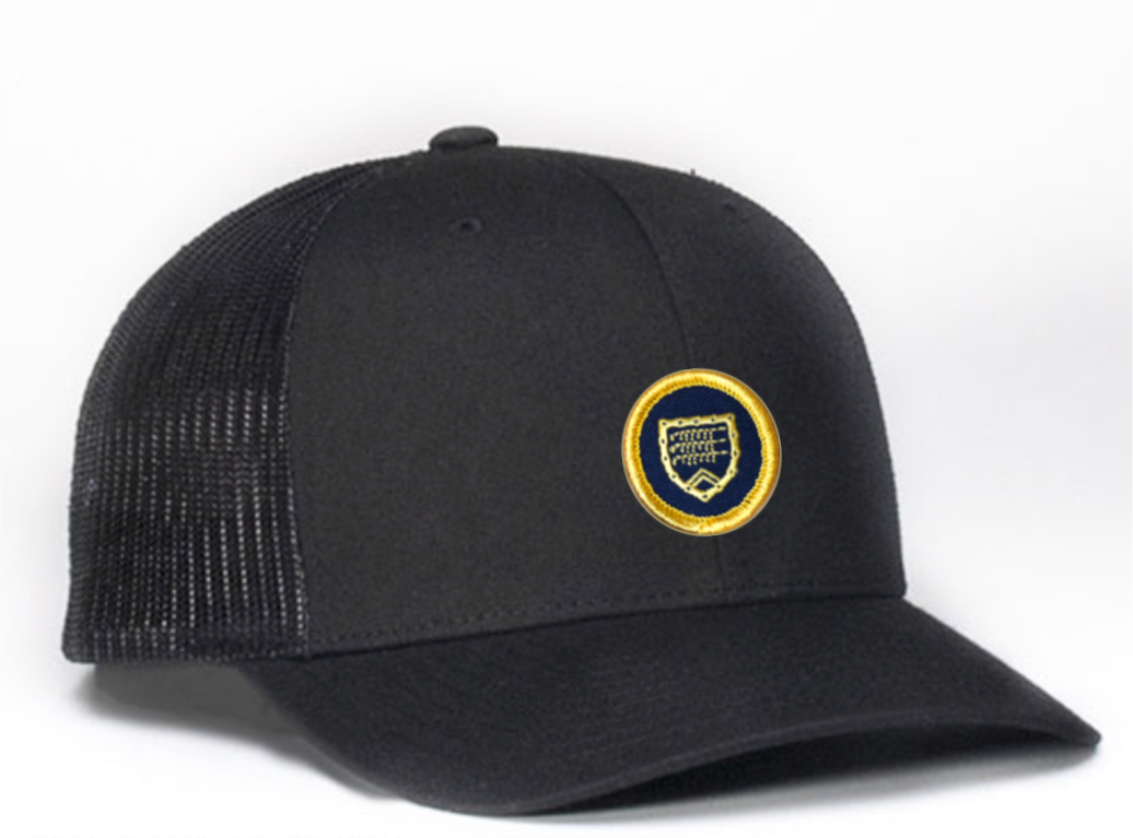 Trucker hat - black with Shapland crest