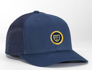 Open image in slideshow, Trucker hat - navy with Shapland crest