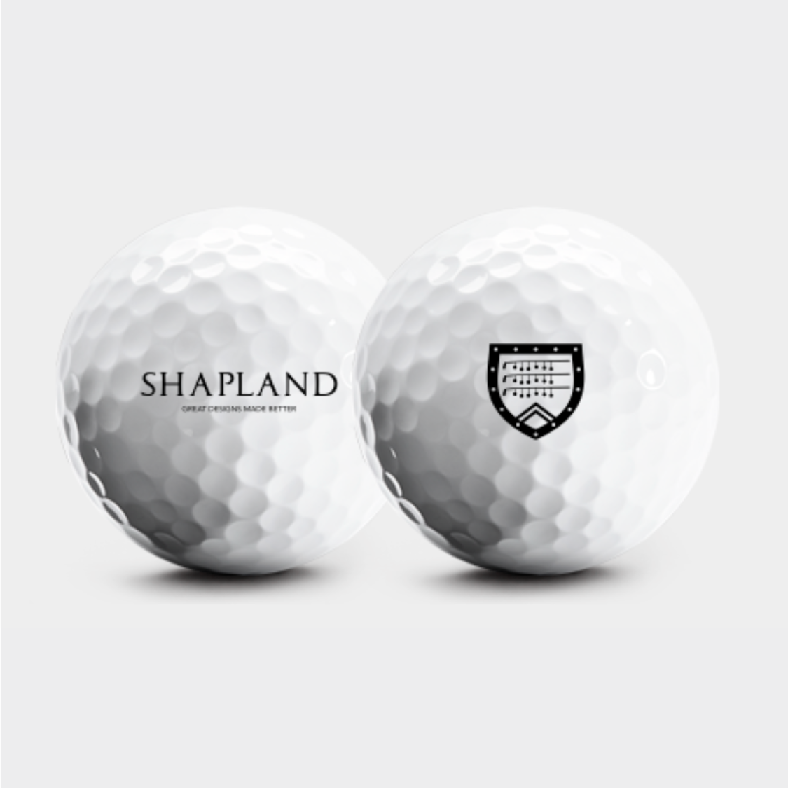 Shapland logo golf balls by Snell