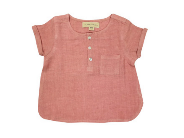 Blusa rosada lino Petite Collection
