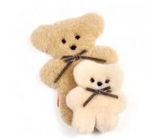 Copy of Little Cuddle Flat Bear in Honey