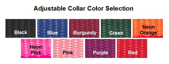 nylon adjustable collar color chart