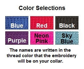 color chart for breakaway collars