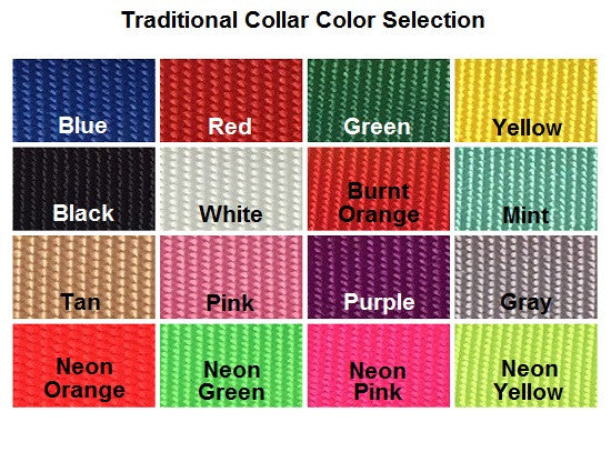 Color chart for collars.