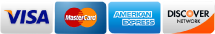Visa Mastercard American Express and Discover Cards