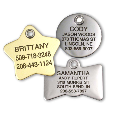Stainless/Brass Cat Tags