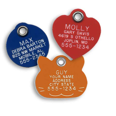 Reflective Plastic Cat Tags