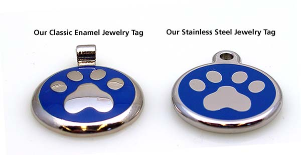 Style comparison between classic Jewelry tag and stainless steel Jewelry Tag.