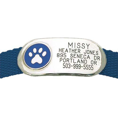 Jewelry Collar Tag - Paw,  - Lucky Pet
