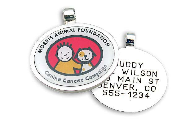 Canine Cancer Campaign Jewelry Tag,  - Lucky Pet