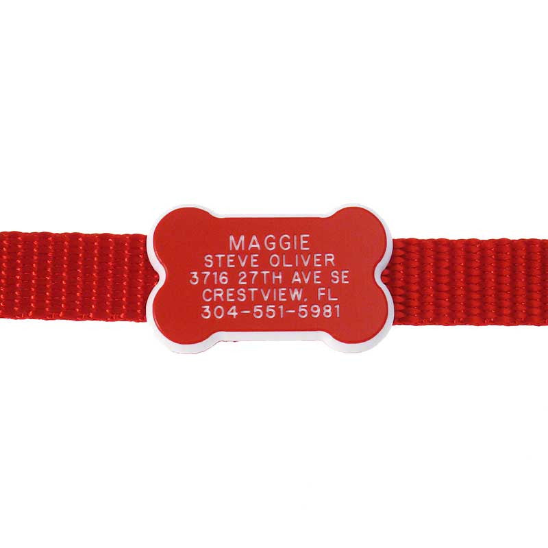 Plastic Collar Tag - Bone,  - Lucky Pet
