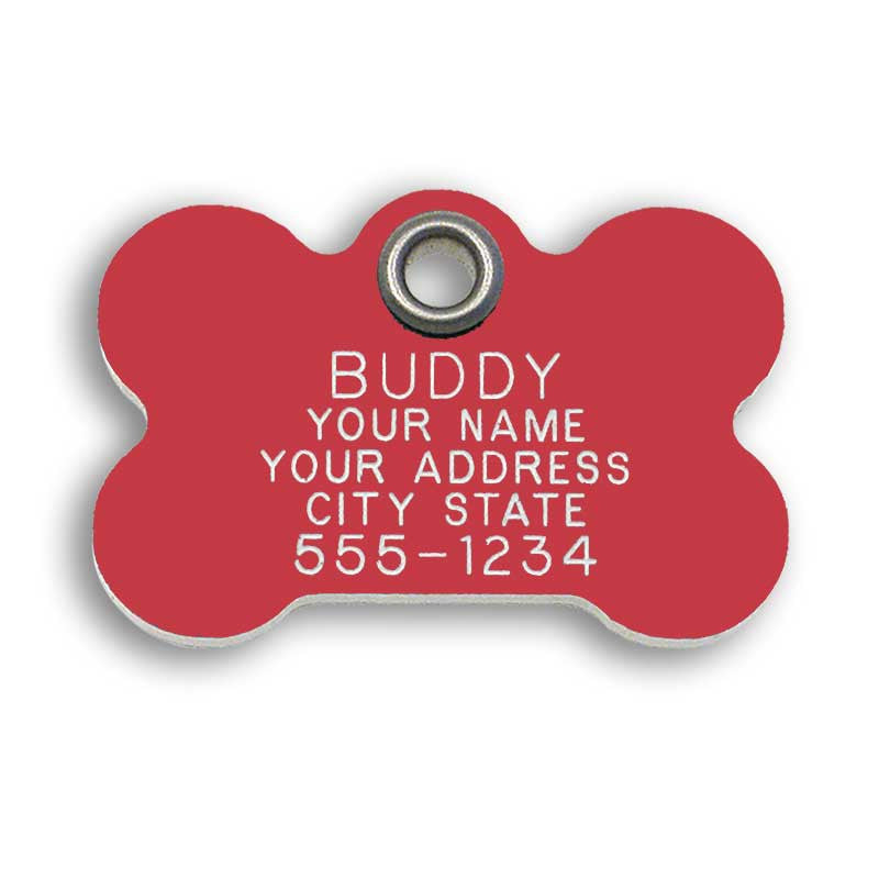 Plastic Bone Dog Tags