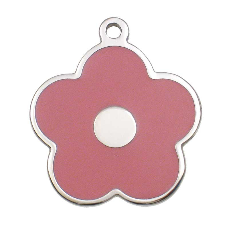Stainless Flower Shaped Jewelry Tag,  - Lucky Pet