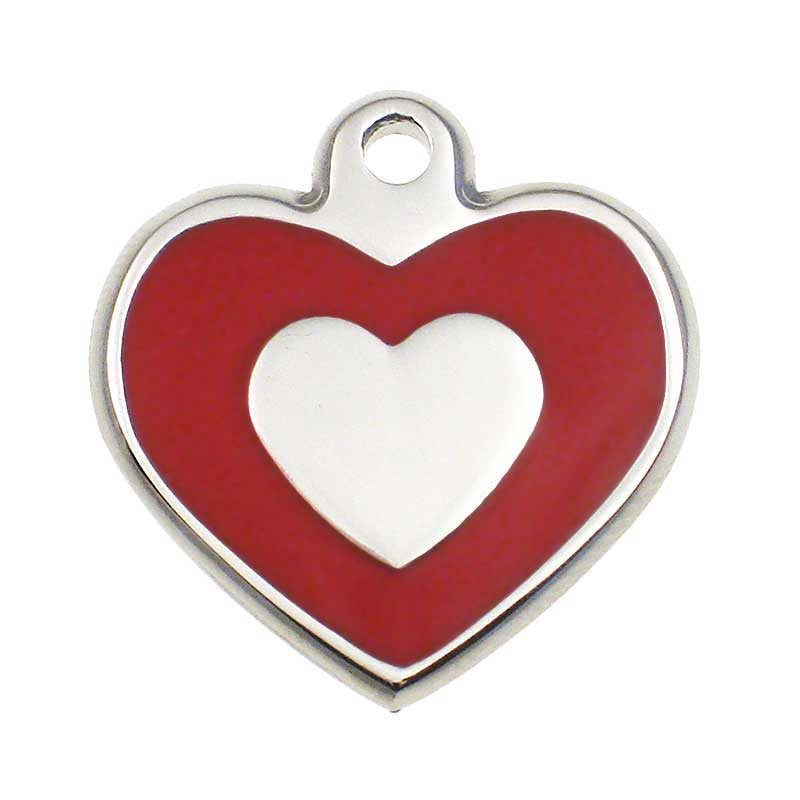 Stainless Heart Shaped Jewelry Tag,  - Lucky Pet
