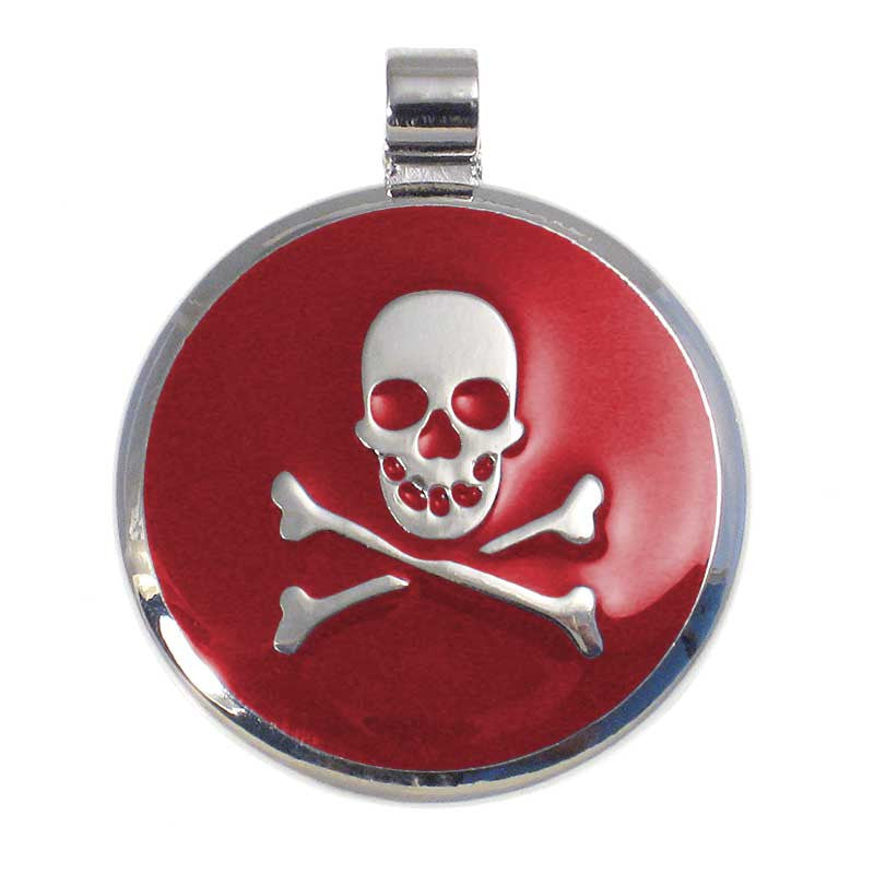 Skull and Crossbone Jewelry Tag,  - Lucky Pet