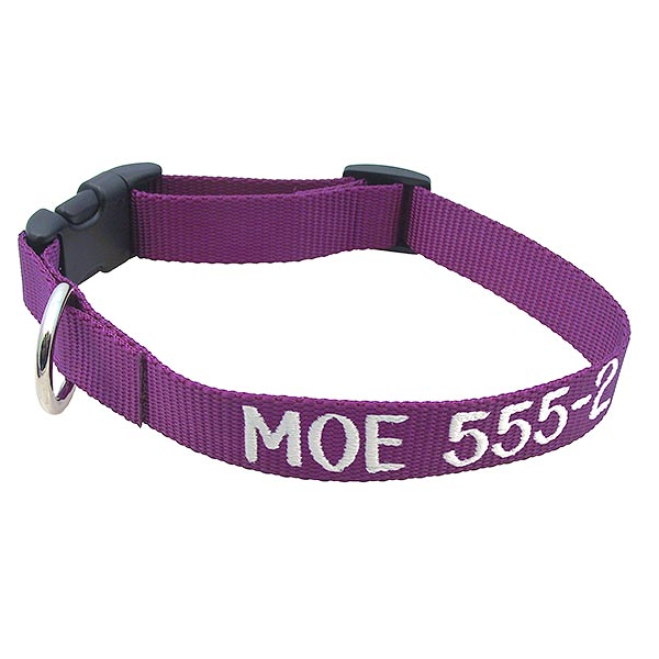 adjustable embroidered pet collars