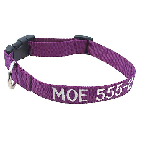 Adjustable Nylon Collar - with Personalized Embroidery,  - Lucky Pet