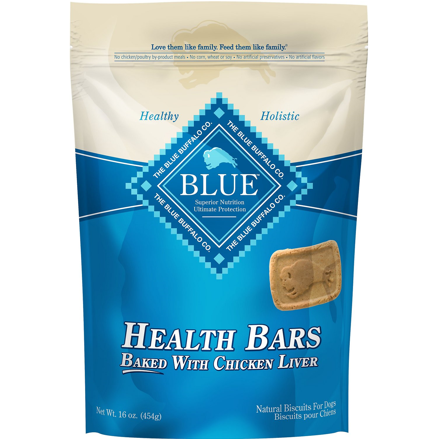 Blue Buffalo Dog Treats Baked with Chicken Liver, 16-oz,  - Lucky Pet