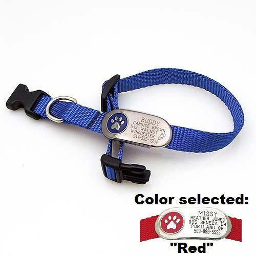 Jewelry ID Collar - Paw,  - Lucky Pet