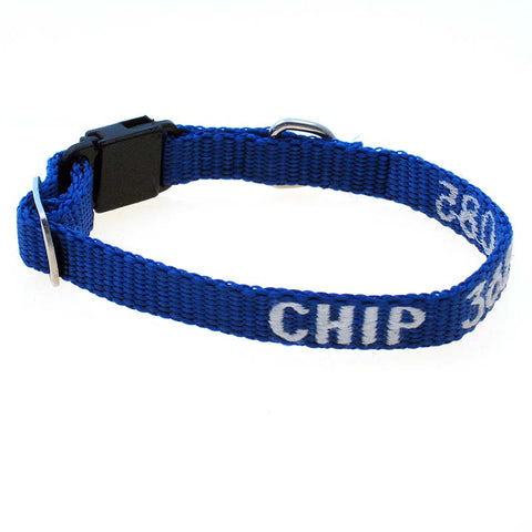 Adjustable Nylon Cat Collar - with Personalized Embroidery,  - Lucky Pet