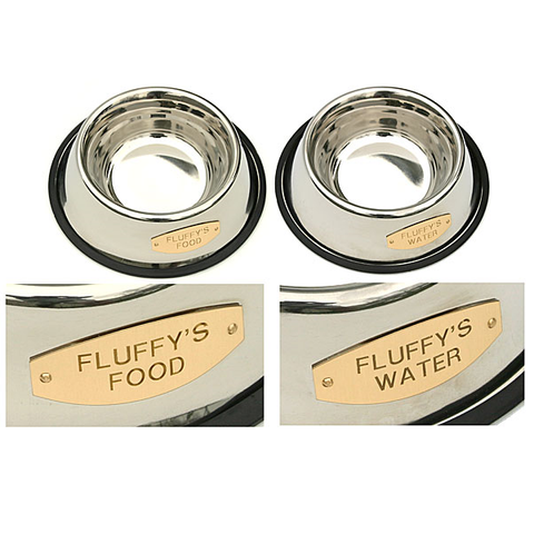 Personalized Stainless Bowl - Food & Water Set | Pet Gifts,  - Lucky Pet