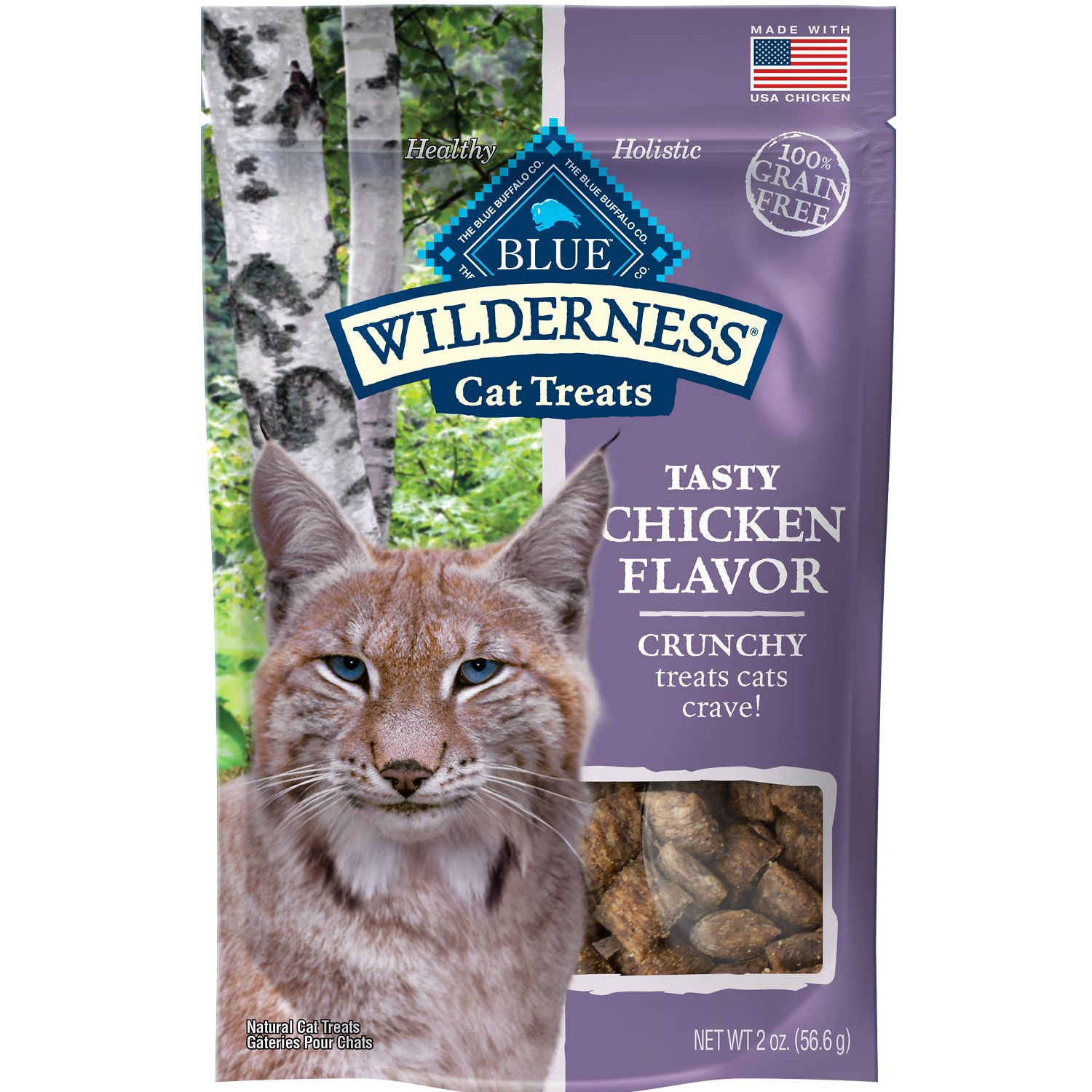 Blue Wilderness Crunchy Chicken Grain-Free Cat Treats,  - Lucky Pet
