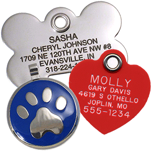 470b7c2037ca Custom Pet Tags, Personalized for Dogs & Cats - LuckyPet
