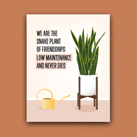 A test of true friendship: I know the status of your life without facebook greeting card