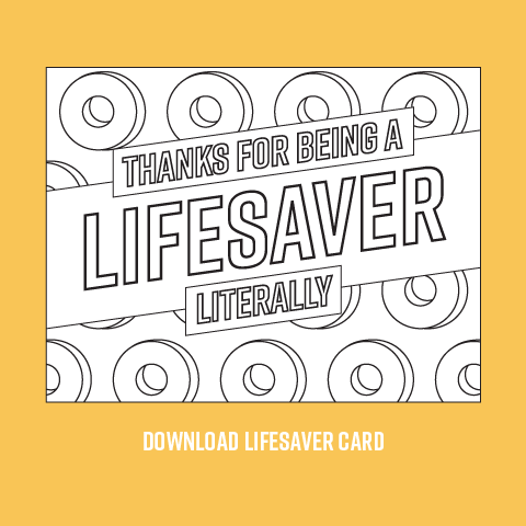lifesaver printable