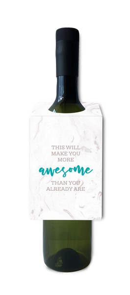 This will make you more awesome than you already are wine and spirit tag