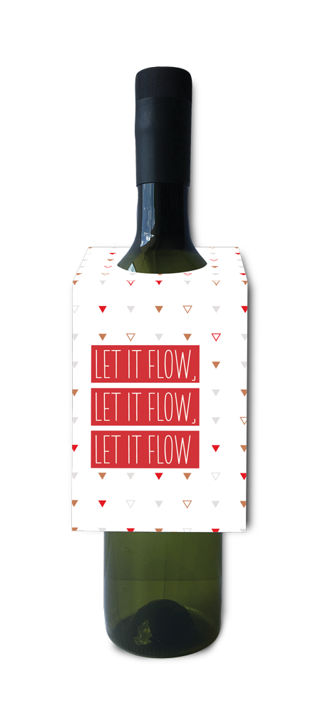 Let it flow wine and spirit tag