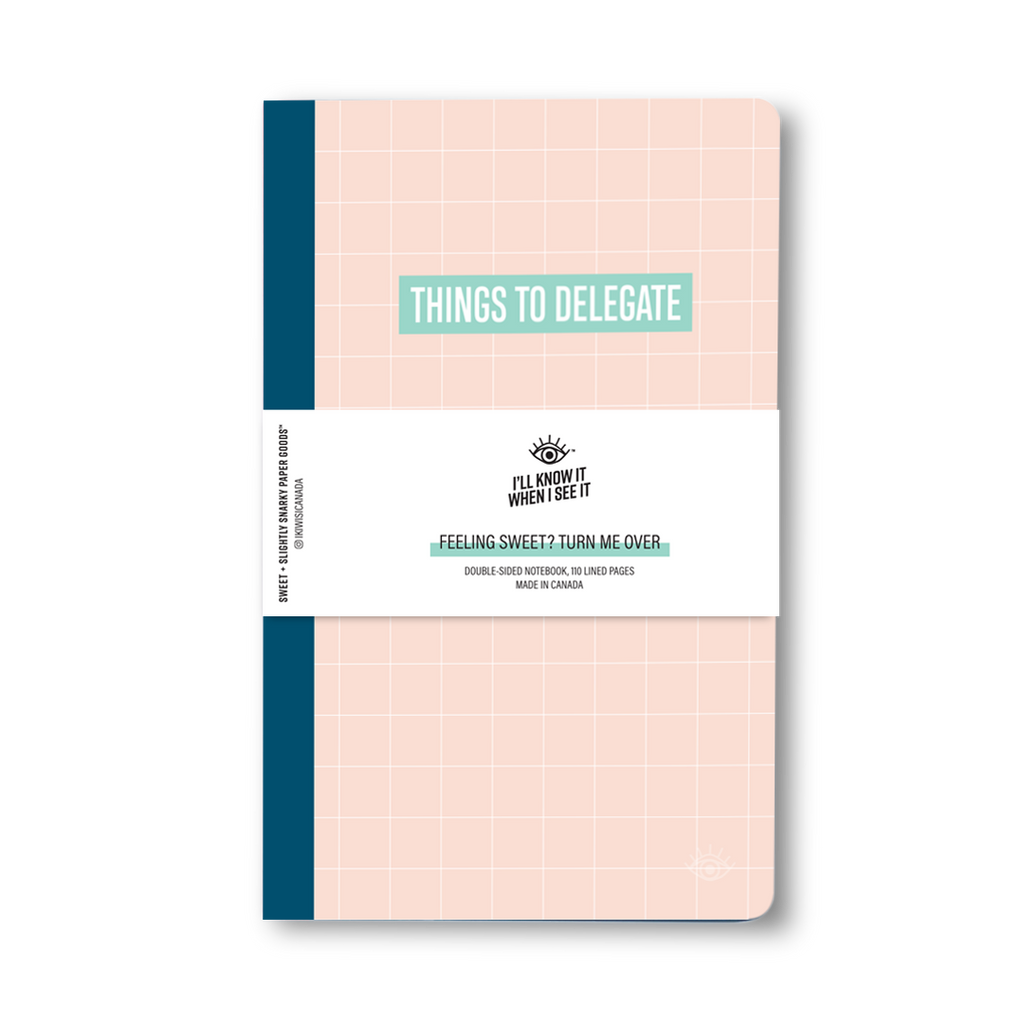Things to do, things to delegate double-sided notebook cover