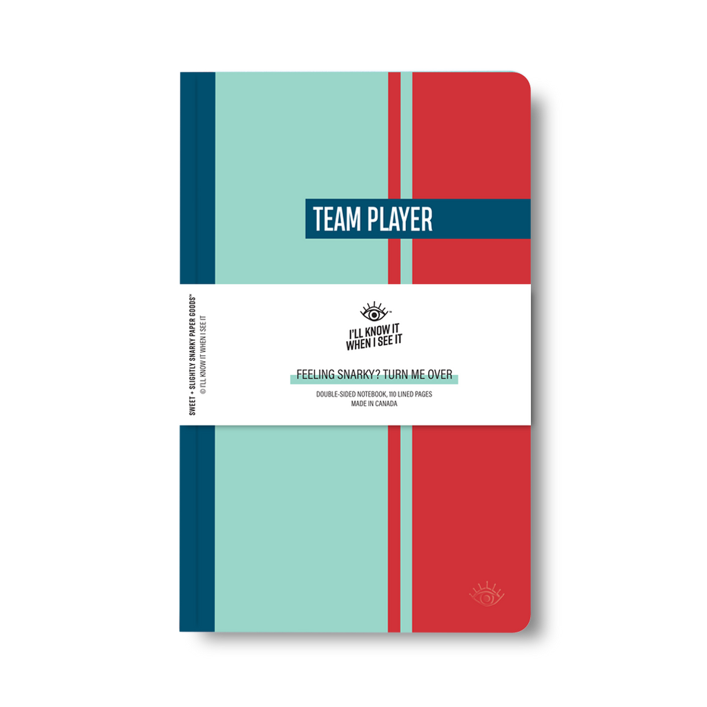 Team player, department of one double-sided notebook cover