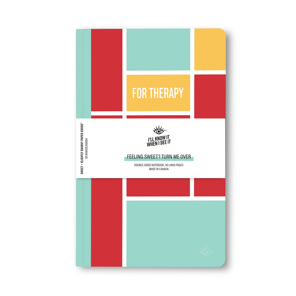 For work, for therapy double-sided notebook cover