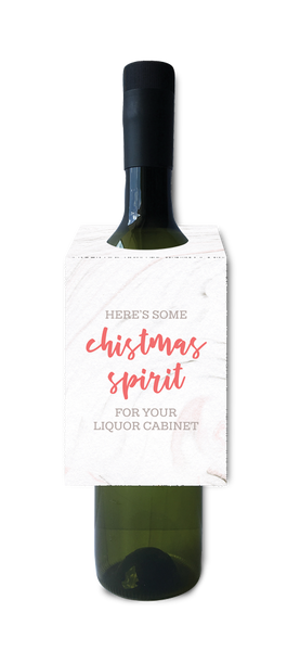 Find your Christmas spirit in your liquor cabinet wine and spirit tag