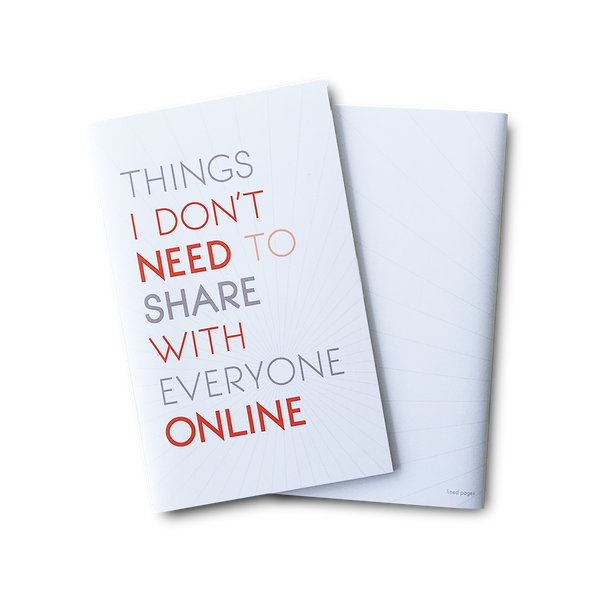 Don't need to share online