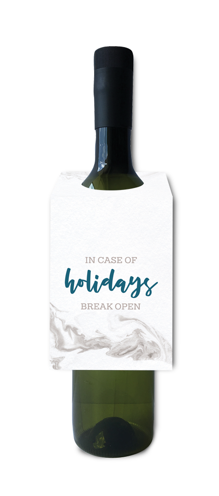 In case of holidays, break open wine and spirit tag