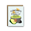 Congrats, your little one is finally out baby greeting card