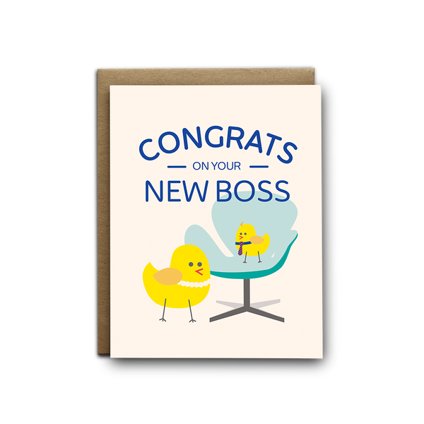 Congrats on your new boss baby greeting card