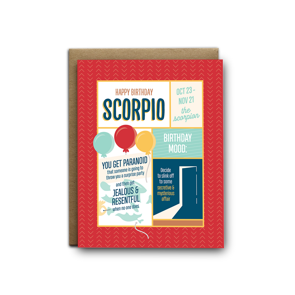 Scorpio birthday greeting card