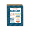 Sagittarius birthday greeting card